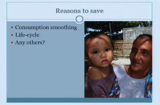 Banerjee & Duflo: 14.73 Lecture 20 — Savings Part 1