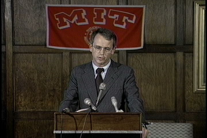 Charles M. Vest Presidential Press Conference